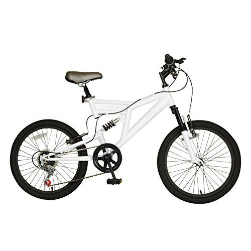 Cycle Force Dual Suspension Mountain Bike, 20 inch Wheels, 15 inch Frame, Men's Bike, White