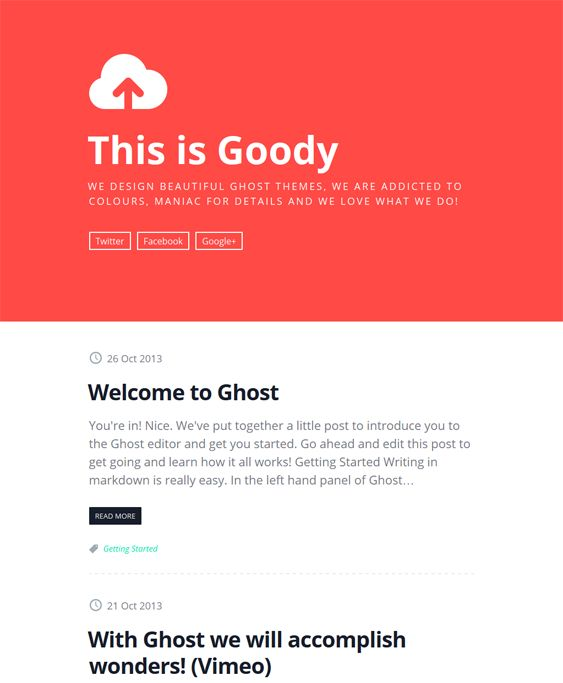 This minimal Ghost theme comes with Google Fonts, a responsive layout, author info and picture support, CSS3 and HTML5 code, Disqus comments, cross-browser compatibility, and more.