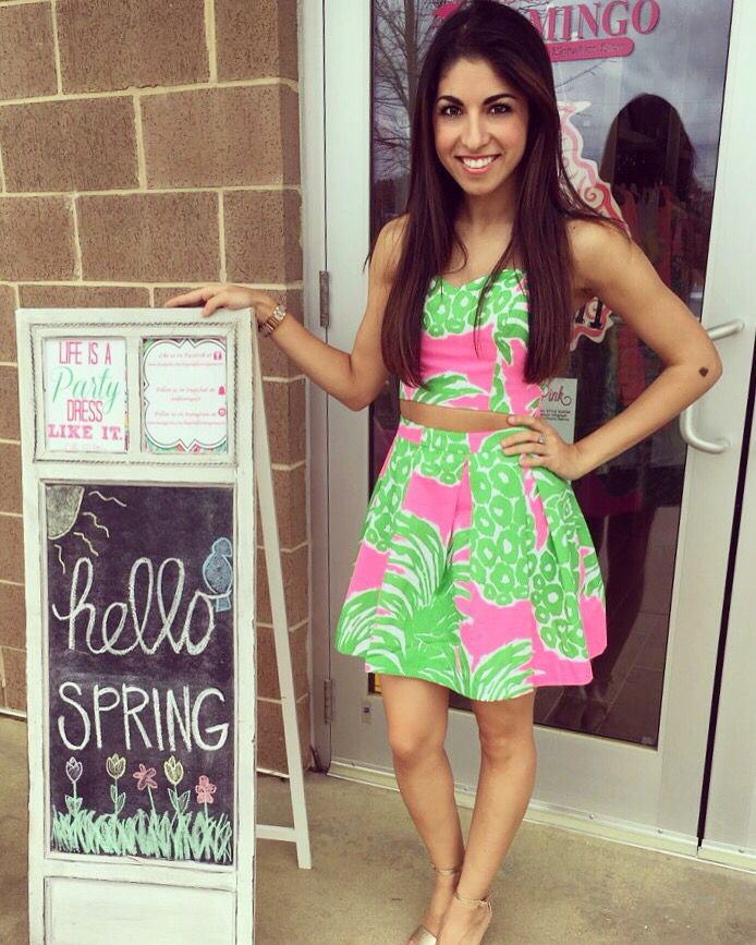 Lilly Pulitzer Parfait Set-Flamenco $178 at The Pink Flamingo, A Lilly Pulitzer Signature Store