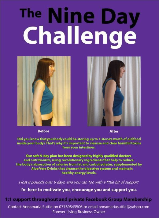 My wife Anna did our nine day cleanse and lost 8 pounds!