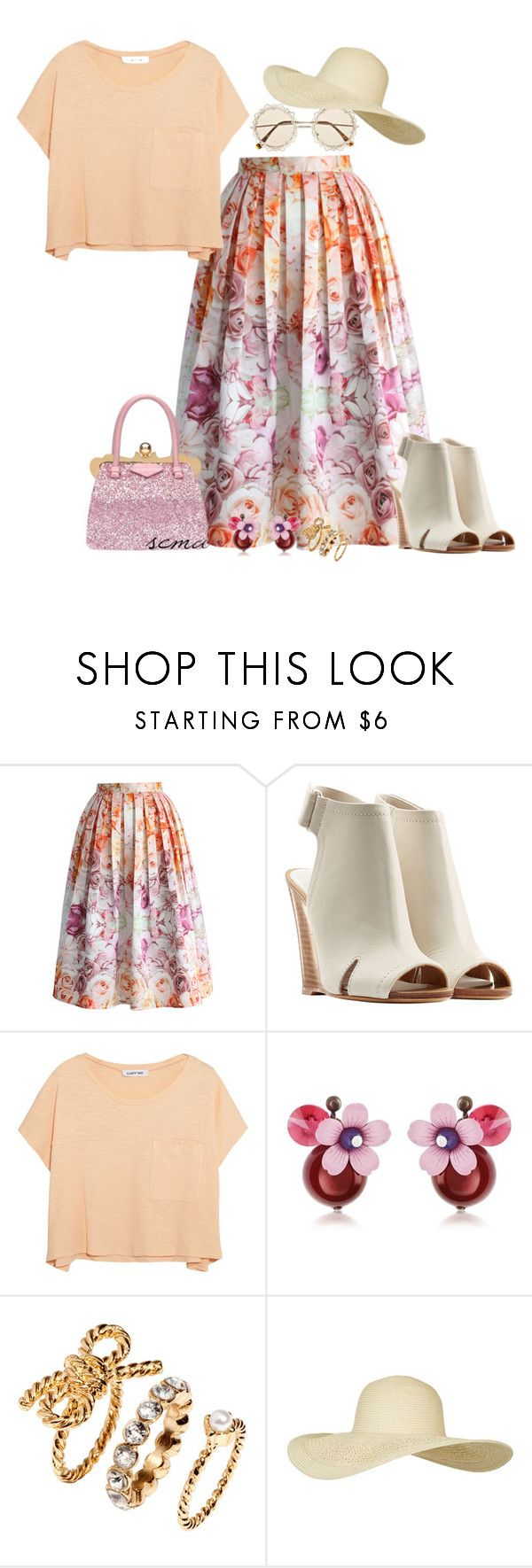 """3s"" by semanur-coskun ❤ liked on Polyvore featuring moda, Chicwish, rag & bone, Elizabeth and James, Swarovski Crystallized, Miu Miu, H&M y Topshop"