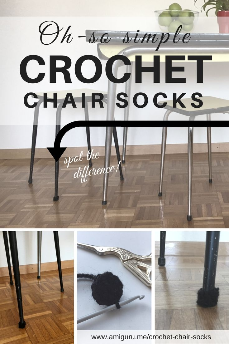 If you can crochet a circle, you can crochet chair socks! Get the simple DIY recipe for free, and protect your beautiful floors.