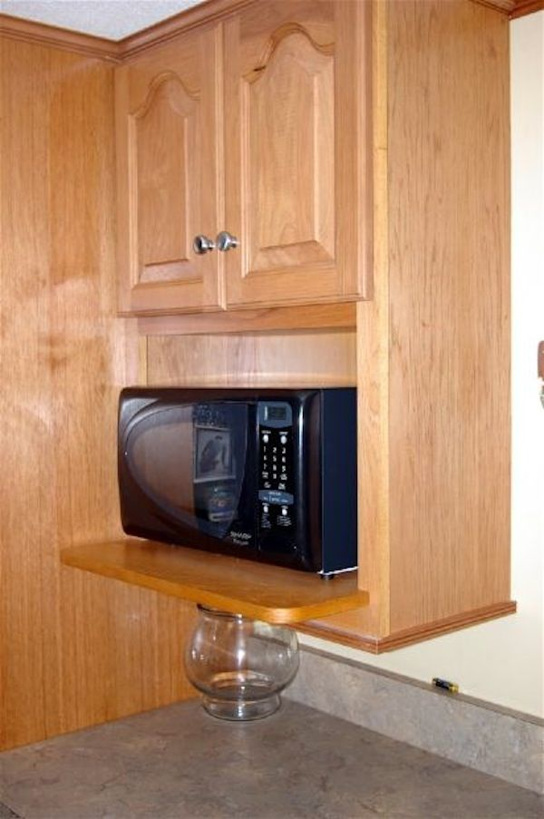 14 best microwaves images on pinterest microwave for Kitchen remodel keeping oak cabinets