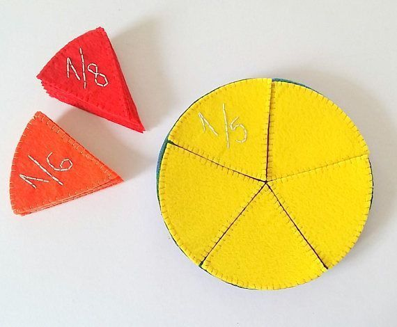 Montessori fractions learning set, Fractions felt circles, math manipulative, Waldorf toys, fractions puzzle, teacher supplies, homeschool  Teach your kids fractions with an interactive and educational toy: felt circles. This visual manipulative toy will