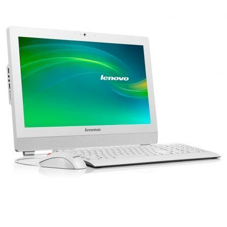 Ordenador, Pantalla, Teclado y Ratón Blancos, All In One Ordenador (PC), Teclado y Ratón S200Z 10K5001NSP, de la marca Lenovo.
