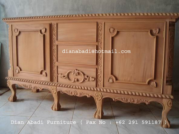 Unfinished Mahogany Furniture, China Chippendale Wooden Sideboard , Made Of  Fine Solid Kiln Dry Mahogany
