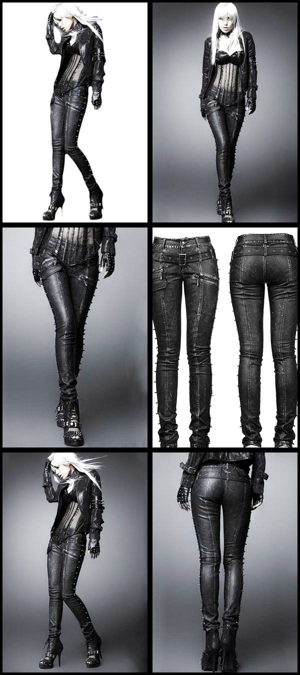 Punk Rave Skinchanger Trousers, Nu Gothic style Leather Look Jeans from ANGEL CLOTHING WOMEN'S JEANS http://amzn.to/2lhkuVq