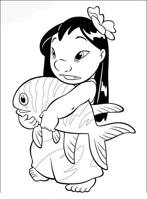 54 best lilo and stitch colouring pages images on Pinterest ...