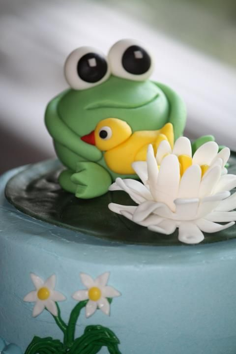 Frog Lily Pad Cake