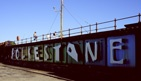 Folkestone art installation on the harbour arm.