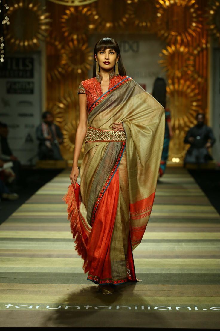 Sari by Tarun Tahiliani. Fall/Winter 2014-15