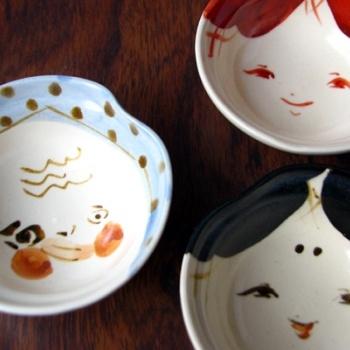 Otafuku and Hyottoko Sake cups