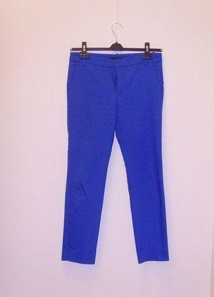 Kup mój przedmiot na #vintedpl http://www.vinted.pl/damska-odziez/chinosy/17763329-wymiana-80-zl-zara-spodnie-materialowe-kobalt-kobaltowe-wiosna-36
