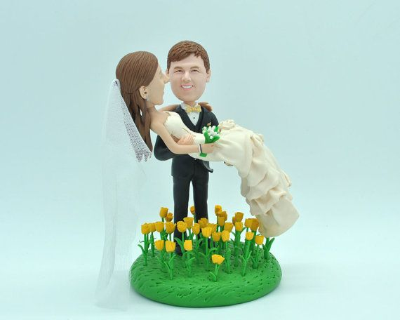 wedding cake topper personalized toppers by Vivantopperstudio