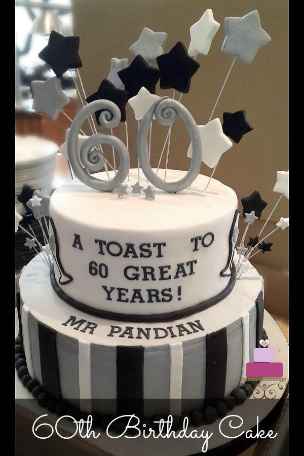 60 Geburtstagstorte In Schwarz Und Silber Geburtstagstorte