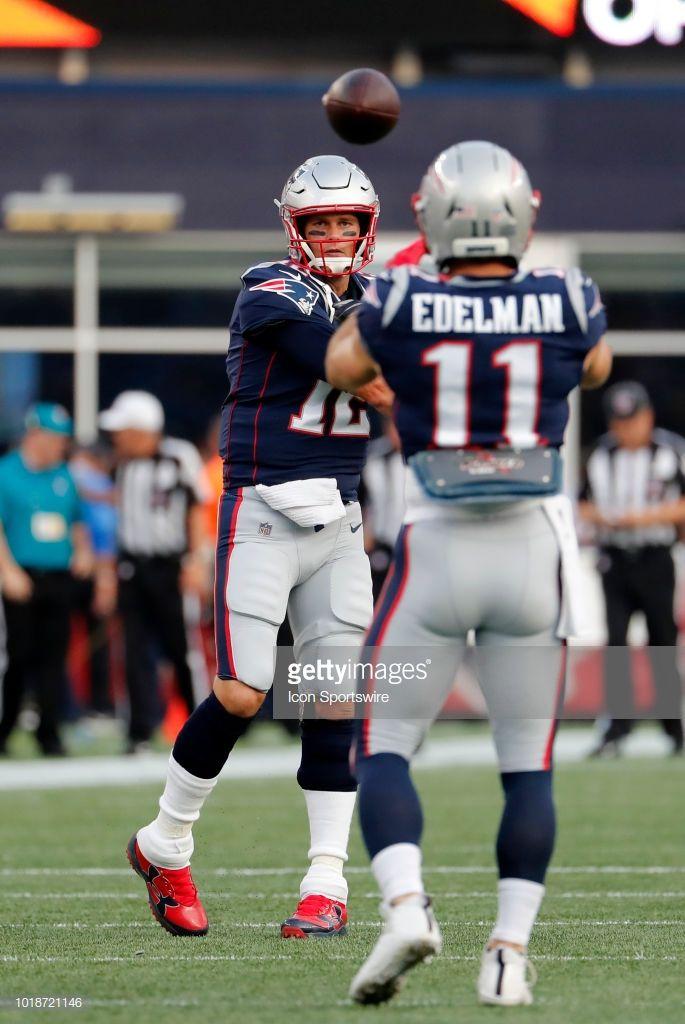 New England Patriots Quarterback Tom Brady Tosses To New England New England Patriots New England Patriots Merchandise Nfl New England Patriots