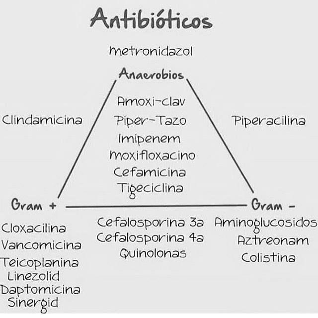 Antibióticos espectro de acción. - Medicina mnemotecnias