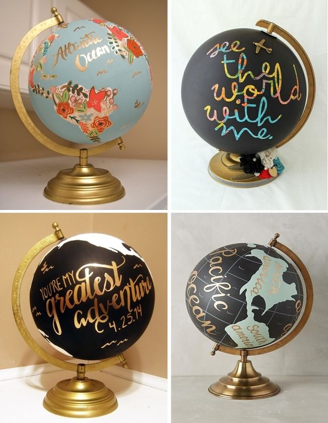 DIY com globo terrestre