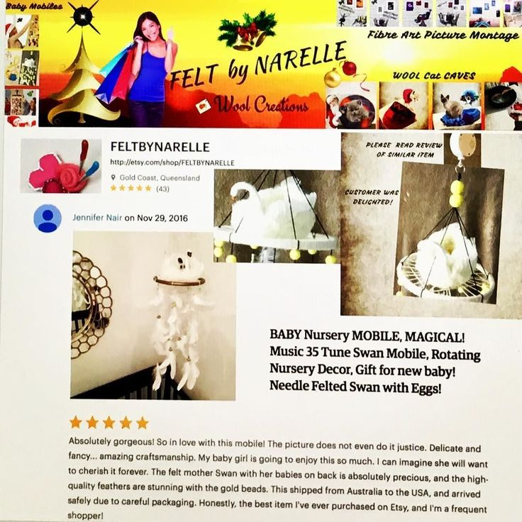 My loveliest EVER Review!.....I have a similar Swan Mobile at Feltbynarelle