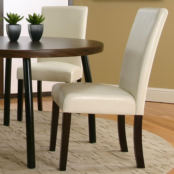 Agreeable Upholstered Dining Parsons Chair ChairsNebraska Furniture MartDining TableExpressedIvory