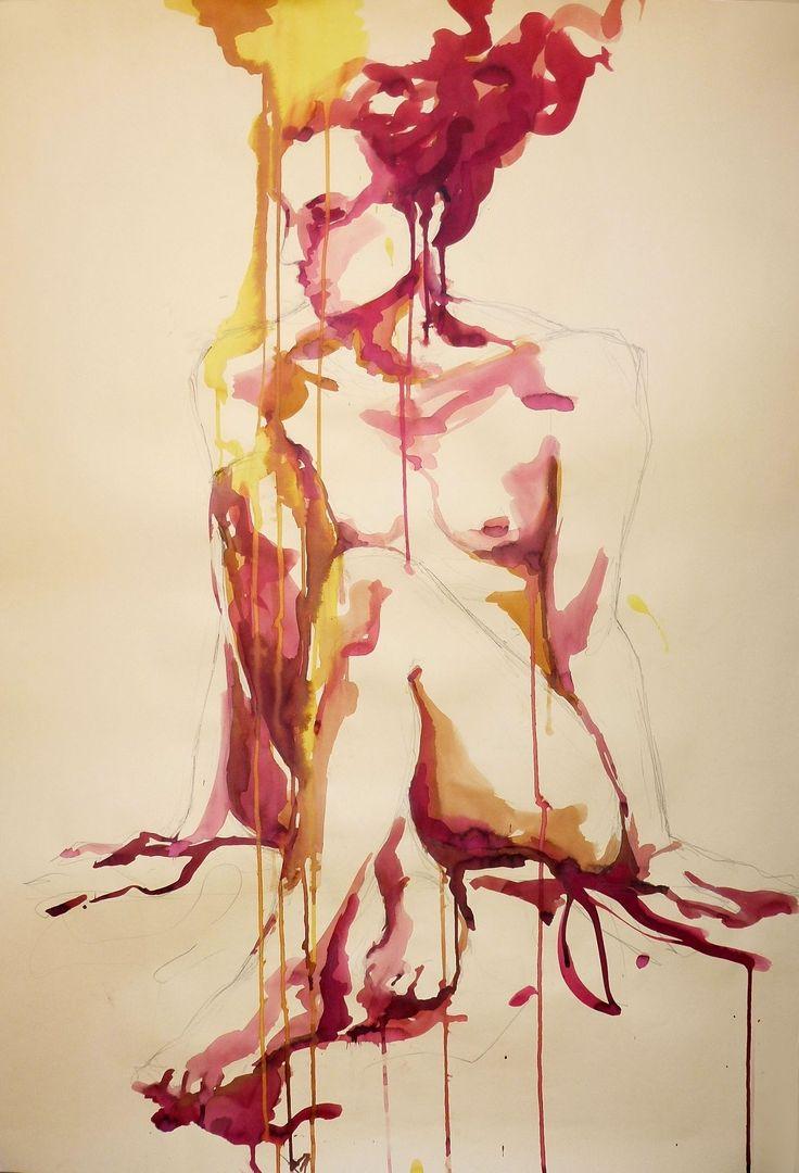 """Cristina Carturan  """"Sara"""" - Ecoline 70x100 cm"""