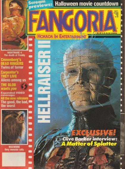 Fangoria Magazine Issue 78 Horror Horror Monsters