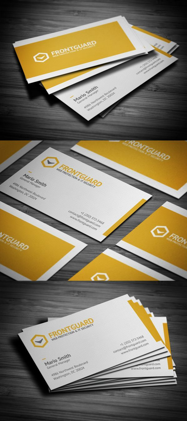 18 best business cards inspiration images on pinterest business i love how this designer brought the yellow to the other side so it feels like is has wrapped the card magicingreecefo Gallery