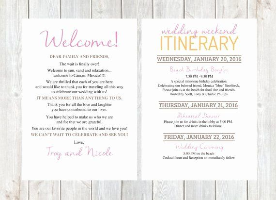 Wedding Welcome Letter Template Free Best Of Wel E Letter Wedding Wel E Letter Wedding Itin Wedding Welcome Letters Wedding Itinerary Wedding Weekend Itinerary