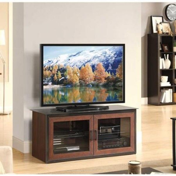 Whalen Brown Closed Door 3 In 1 Tv Stand For Tvs Up To 52