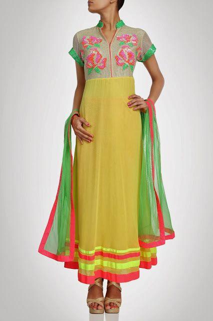 Новые конструкции Лонг Anarkali костюмы Коллекция 2014 дизайнером Прити Jhawar - Vega Fashion мама