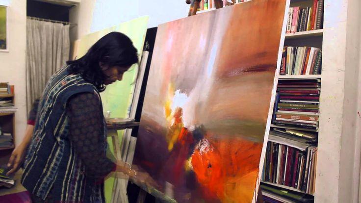 Indian Artist Neena Singh, At Work! #IndianArt #IndianPaintings #Art #Paintings #Artworks