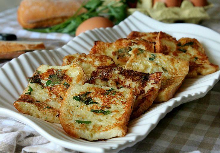 Pane fritto - ricetta facile ed economica. La ricetta ideale per utilizzare il pane avanzato. Fritto nell'olio, molto gustoso. Ricetta economica