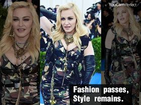 Madonna looks really chic in her army inspired dress at the 2017 Met Gala!   Madonna, 58, attended this year's special event rocking a Mo...