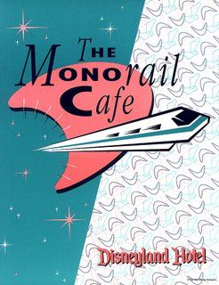 Vintage Disneyland Hotels The Monorail Care menu