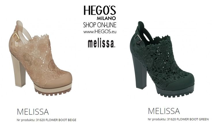 MELISSA FLOWER BOOT + ALEXANDRE HERCHCOVITCH Introduced during the São Paulo Fashion Week, this boot was a hit with fashionistas! It presents two trends of the season: a delicate floral texture mixed with the tractor sole. A perfect contrast between the military boot and the flowers results in a surprising and enchanting product. Autumn/Winter 15/16 Collection HEGO'S