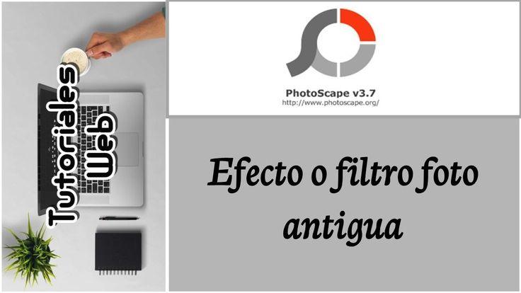 PhotoScape 2017 - Efecto o filtro foto antigua (español)