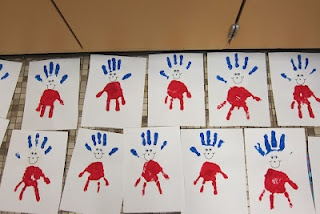 Thing 1 Thing 2 Handprint with googgly eye optional