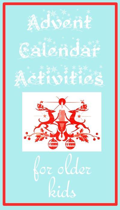 Advent Calendar Ideas Kids : Advent calendar activities for older kids