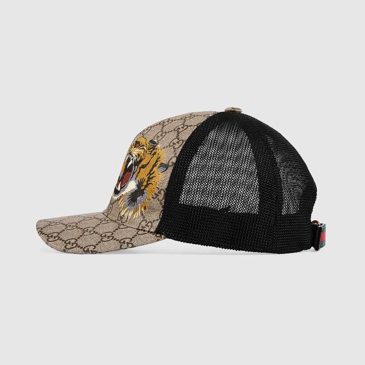GUCCI Tigers print GG Supreme baseball hat - Tiger print. #gucci #