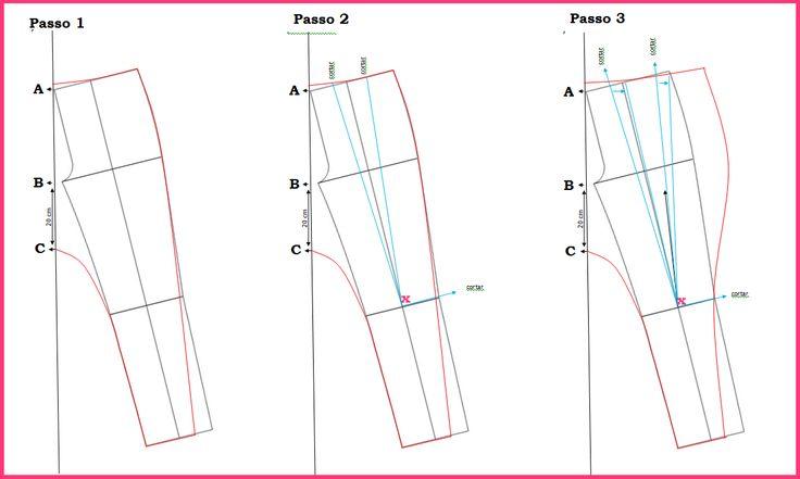 Blog Atelier Fernanda Guimaraes: Modelação de calça Saruel