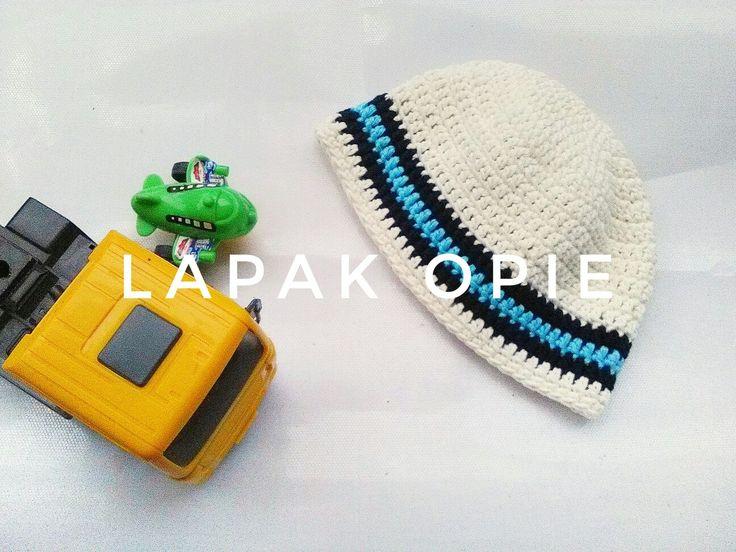 Topi bayi rajut Baby hat crochet