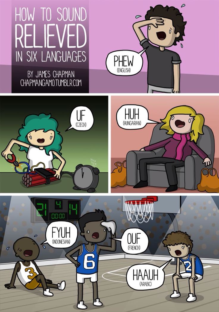How to sound relieved in six languages.