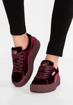 ca066c0a0d0a6 Fenty PUMA by Rihanna - CREEPER VELVET - Baskets basses - burgundy ...