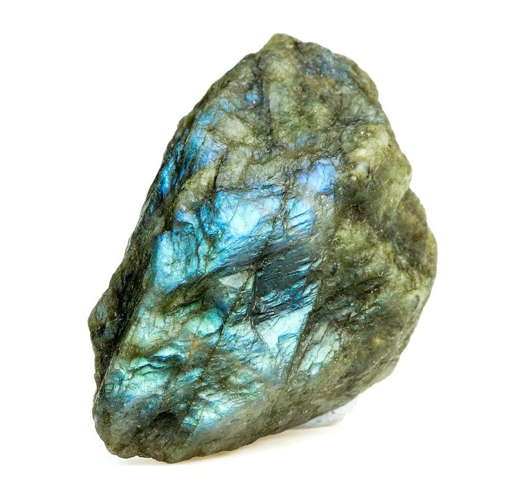 Labradorite belongs to plagioclase feldspars family. It is noted for its beautiful play of color which flashes out over large areas of the grey-colored mineral...