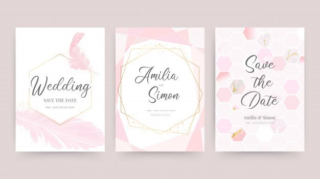 Wedding Invitation And Card Design Template With Beautiful
