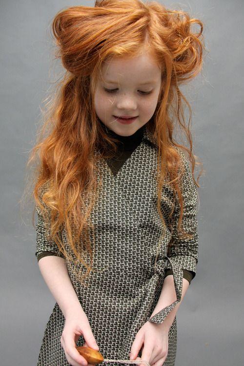 child with wonderful hair