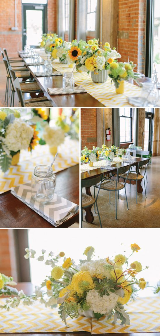 A Pretty Surprise Baby Shower in Gray, Yellow, Pink and Mint