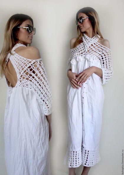 """Платья ручной работы. Платье -рубашка в богемном стиле """"Богемия2"""". Boho love…"""