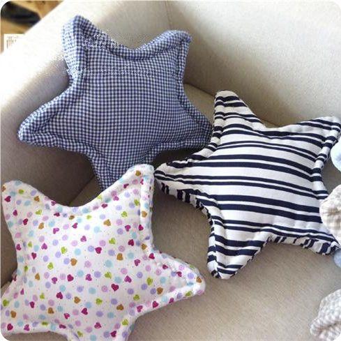 45cm estilo mediterráneo cojín del sofá amortiguador de la tela escocesa de la estrella decorativa sofá de la almohadilla de tiro amortiguador trasero de la casa decoración de la ventana de bahía