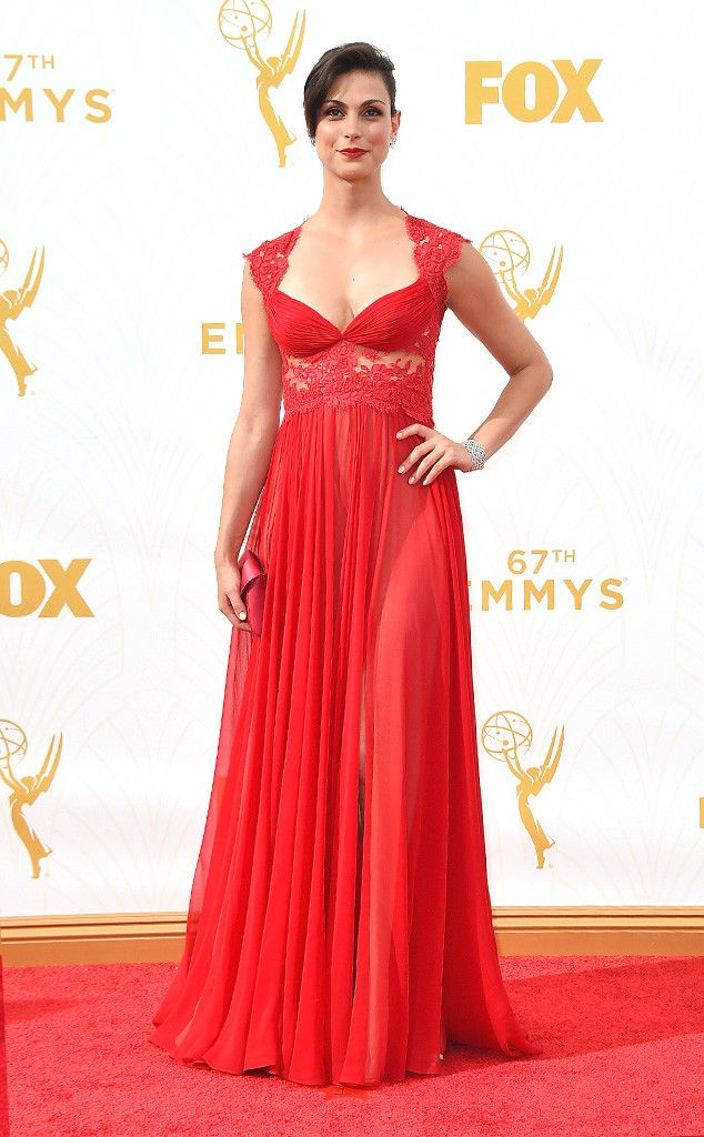 Morena Baccarin from 2015 Emmys: Red Carpet Arrivals  In Reem Acra